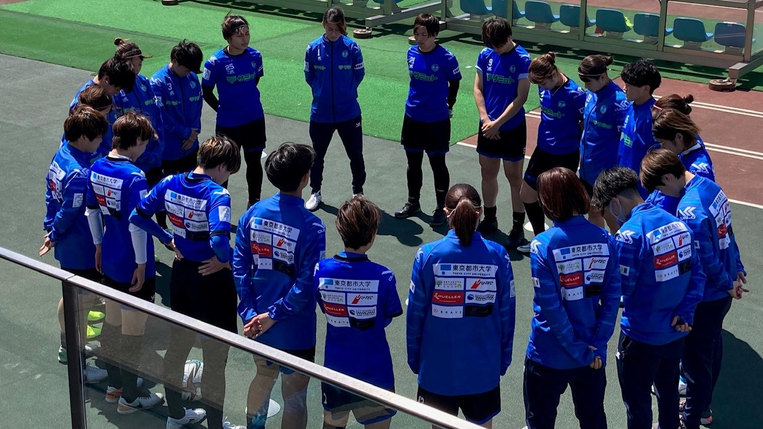 なでしこリーグ1部 スフィーダ世田谷FC トレーニングウェアの背中に注目!